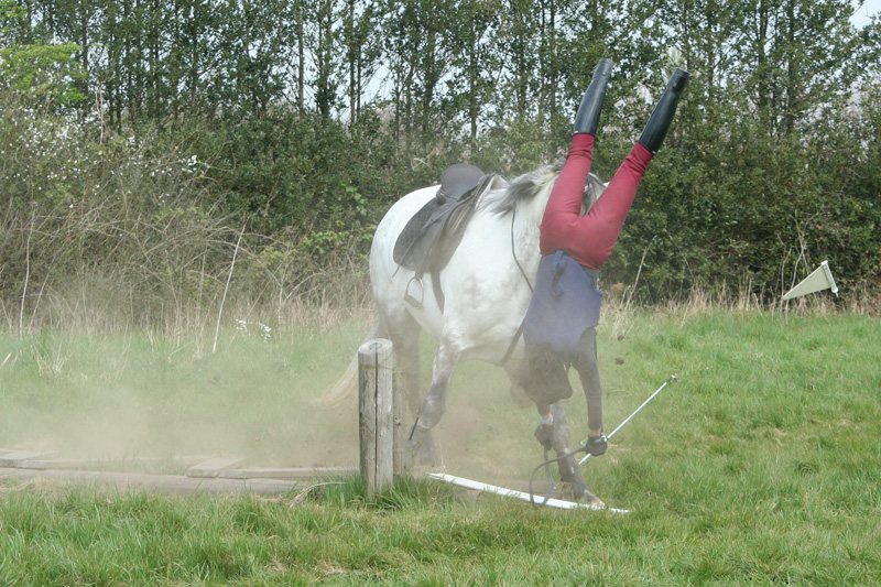 Horses jumping really high and falling