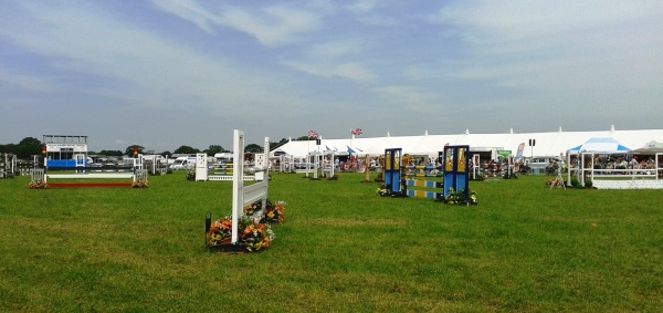 Show jumps set up in the main showjumping arena - anyone fancy trying those?!